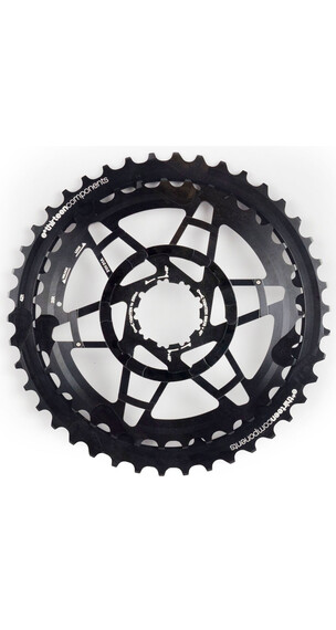 e*thirteen Aluminiowe koła zębate Kaseta rowerowa 36-42 do TRS+ kasety 10-rzędowe czarny